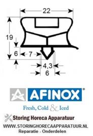 932902141 - Koeldeurrubber B 725mm L 1167mm steekmaat AFINOX
