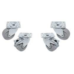 56942701005 - RAG4-PM Kit van 4 zwenkwielen voor kast, 2 met rem DIAMOND ID70/HE