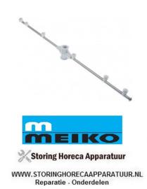 026507556 - Meiko naspoelarm L 620mm sproeiers 6 inbouwpositie onder MEIKO