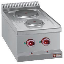 E77/2P4T-N - Elektrische kookplaat 2 ronde platen -Top- DIAMOND