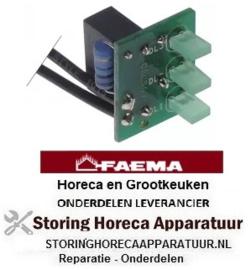 214402609 - Printplaat E92 S kabellengte 110mm groen LED drievoudig FAEMA