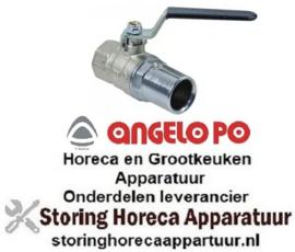 """645514120 - Uitloopkraan L 84mm uitloop ø 22mm draad 3/4"""" voor apparatuur ANGELO-PO"""