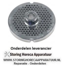158696126 - Gatenschijf gehaktmolen type ENTERPRISE grootte 22 gat ø 3,5mm met naaf 2 RVS ø 82 mm