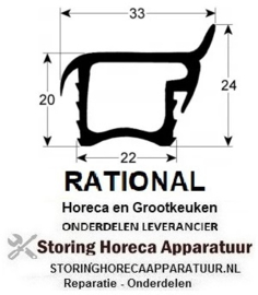 569902228 - Rekkenwagendichting 675mm L 165mm buiten steekmaat  passend voor RATIONAL