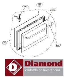 468256.238.00 - DEUR COMPLEET VOOR OVEN DIAMOND GASTRO23/X-N - BRIO43/X-N