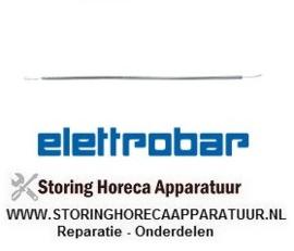 026416494 - Kwartsbuis 500W 115V voor kwartsbuis L1 240mm L2 185mm ø 6mm aansluiting oog ELETTROBAR