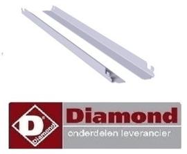 033TICG-L - Stel geleiders rechts en links, koelwerkbank GN 1/1 DIAMOND