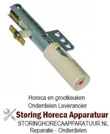 ST1100011 - Piëzo-ontsteker behuizing metaal aansluiting F6,3x0,8 3-gatsbevestiging ø 22mm