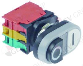 401357 - Drukschakelaar tastend inbouwmaat ø22mm 1NO/1NC/signaallamp 400V 4A signaallamp 24V 0-I