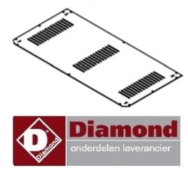 2356.80.40 - Onderrooster pannenkoeken plaat DIAMOND BRET/2E-R