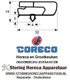191901164 - Koeldeurrubber B 365 mm L 560 mm steekmaat CORECO