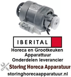 105500793 - Motor met riemschijf 120W 230V 50/60Hz fasen 1 schacht ø 10mm 1390/1600U/min type RM63/50 ø 90mm IBERITAL