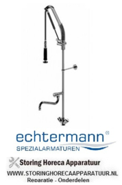 5536534.02 - TOPCLEAN 1-gats bladmodel met tussenkraan en uitloop op stijgpijp Echterman