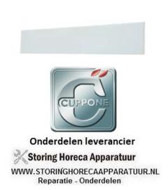 952700205 - Glasplaat L 320mm B 100mm voor CUPPONE
