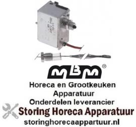 226375996 - Maximaalthermostaat uitschakeltemp. 225°C 1-polig 1NC 16A voeler ø 5mm voeler L 80mm pijp ø 900mm MBM