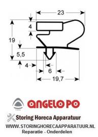036901801 - Koeldeurrubber profiel 9046 B 650mm L 750mm steekmaat ANGELO-PO