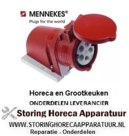 299551178 - Stopcontact C-Form CEE wanduitvoering 5-polig contact 3P+N+PE max. 16A max. spanning 400V