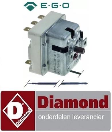 19091310051 - Maximaalthermostaat  560°C 3-polig 20A voeler ø 3,9mm voeler L 228mm pijp ø 870mm DIAMOND GDX