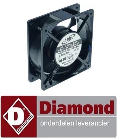 19891310320 - Axiaalventilator L 119mm B 119mm H 38mm 230VAC 50/60Hz 23/20W lager kogellager DIAMOND