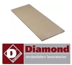 30391610141 - Warmtebestendigesteen L 1074mm B 358mm H 16mm DIAMOND PIZZA OVEN