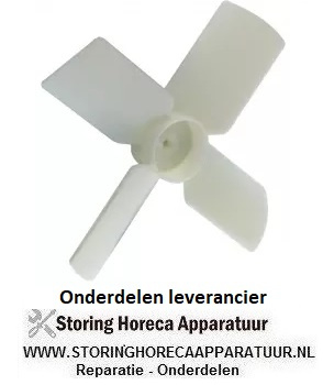 155601846 Ventilatorblad drukkend ø 150mm asafname ø 4mm B