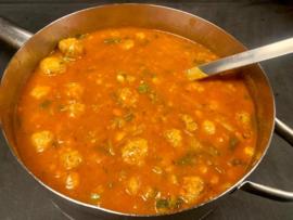 Grote soep van de Chef