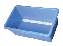 Koi meetbak 80 cm kunstof blauw