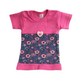Babyjurkje bloemen roze