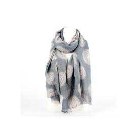 Sjaal circle grijs-beige