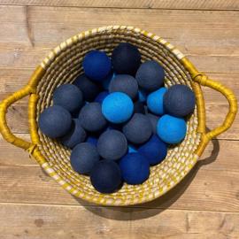 Cotton Ball lichtslinger 35 ballen blauwtinten 45