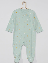 Pyjama/onesie/boxpakje bosdieren mint maat 62