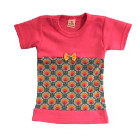 Babyjurkje bloem oranje