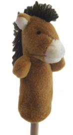 Pluche vingerpoppetje paard