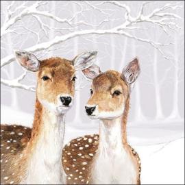 Servetten herten in de sneeuw Ambiente