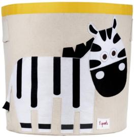 3 Sprouts speelgoedmand zebra