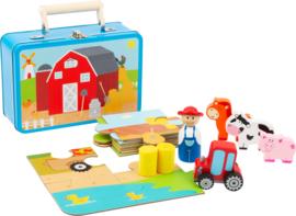Boerderijset in koffertje  van Small Foot houten speelgoed