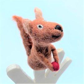 Vilten vingerpoppetje eekhoorn 3D