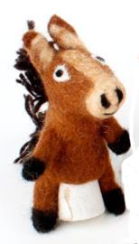 Vilten vingerpoppetje paard 3D