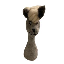 Mini handpop alpaca grijs