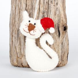 Kerstkat wit