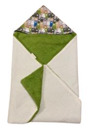 Wikkeldoek lama groen-grijs