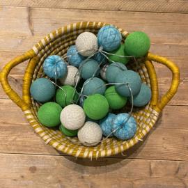 Cotton Ball lichtslinger 35 ballen blauw-goen 43