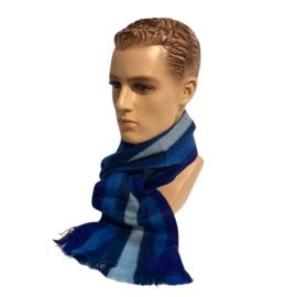 Alpacawollen sjaal blauwtinten