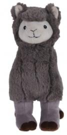 Alpaca knuffel grijs