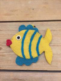 Portemonneetje vis geel