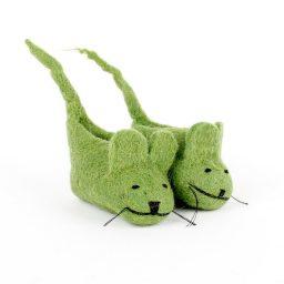 Babyslofjes muis groen