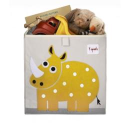3 Sprouts opbergbox (past in IKEA Kallax kast) neushoorn