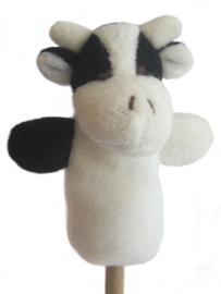 Pluche vingerpoppetje koe