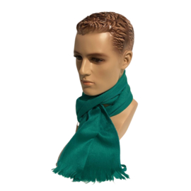 Alpacawollen sjaal flessengroen