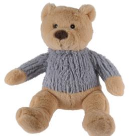 Knuffel beer met grijze trui